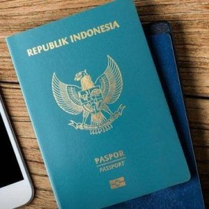 Illustration of the green passport of the Republic of Indonesia, an important travel document for Indonesian citizens